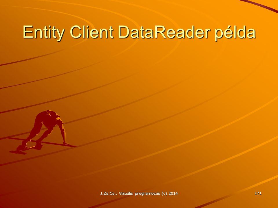 Entity Client DataReader példa