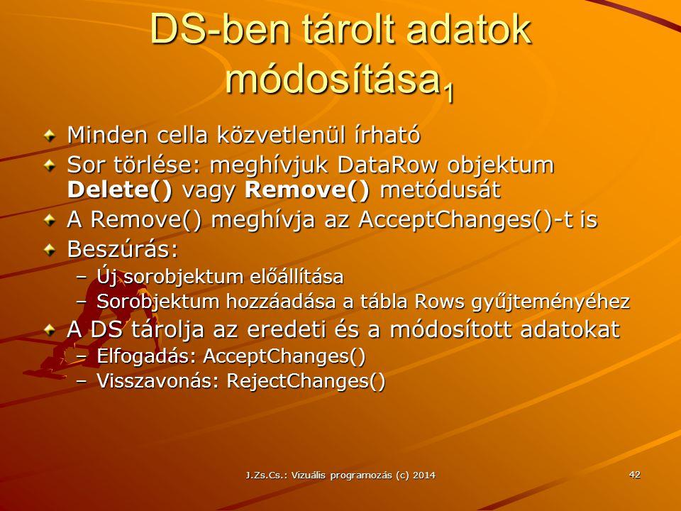 DS-ben tárolt adatok módosítása1