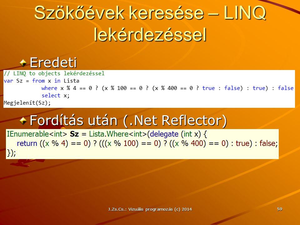 Szökőévek keresése – LINQ lekérdezéssel