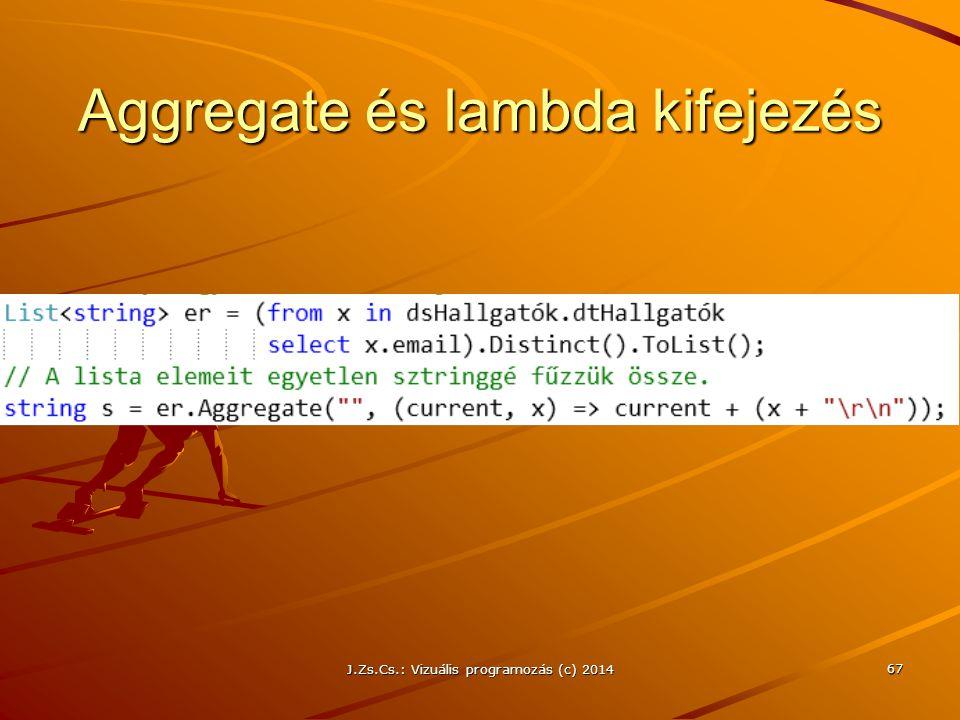 Aggregate és lambda kifejezés