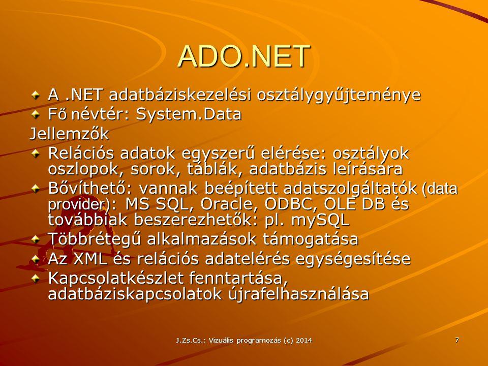 J.Zs.Cs.: Vizuális programozás (c) 2014