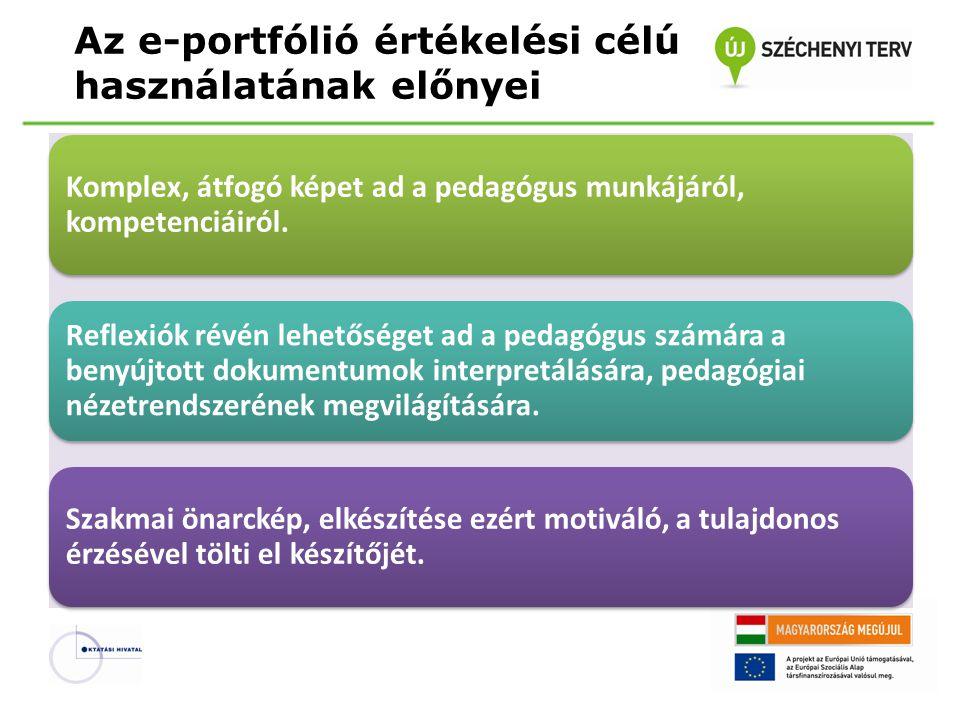 Az e-portfólió értékelési célú használatának előnyei