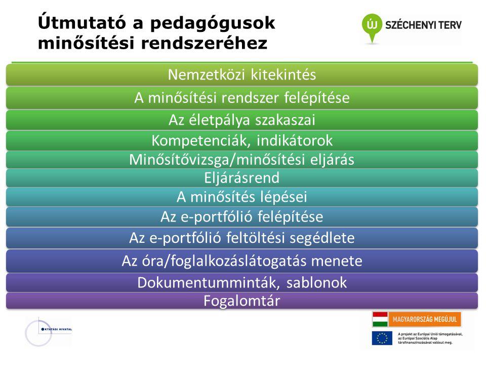 Útmutató a pedagógusok minősítési rendszeréhez