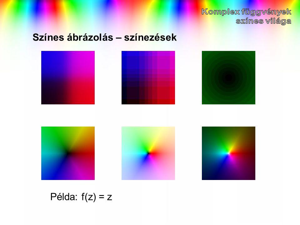 Színes ábrázolás – színezések