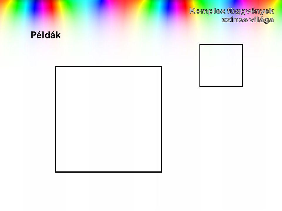 Komplex függvények színes világa Példák