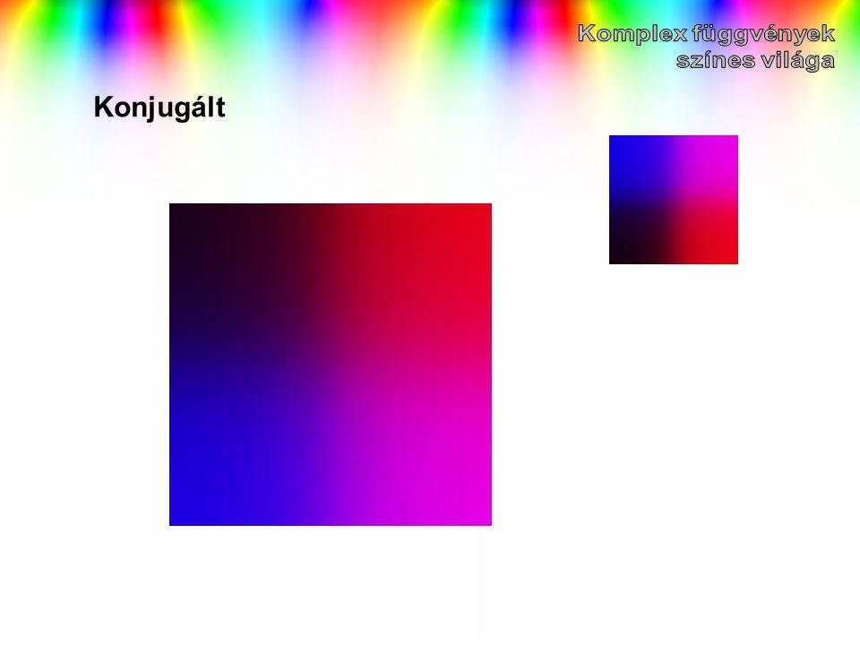 Komplex függvények színes világa Konjugált