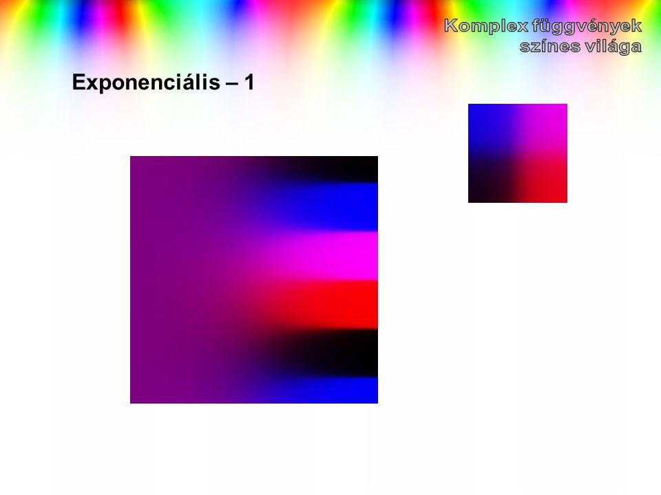 Komplex függvények színes világa Exponenciális – 1
