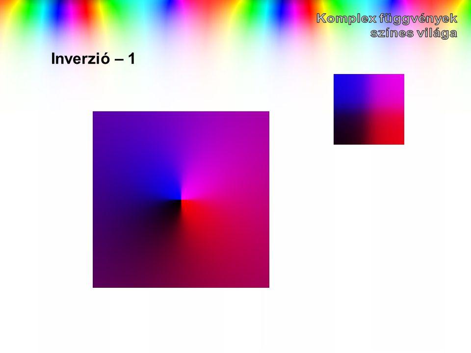 Komplex függvények színes világa Inverzió – 1