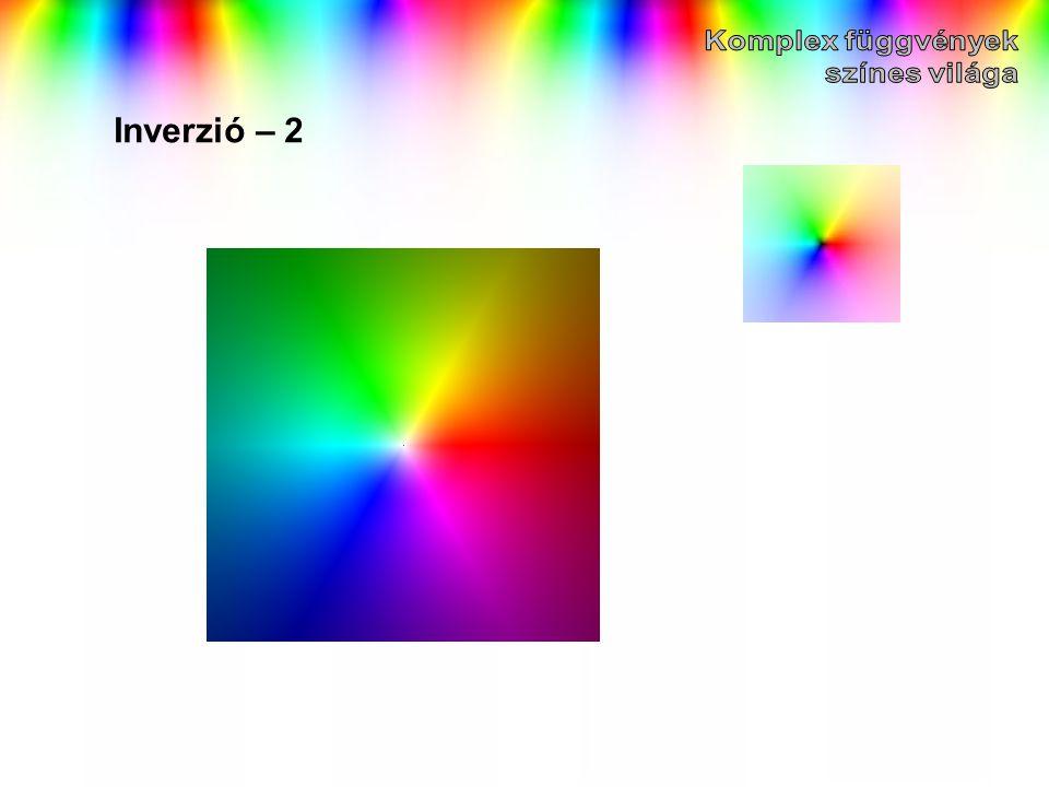 Komplex függvények színes világa Inverzió – 2