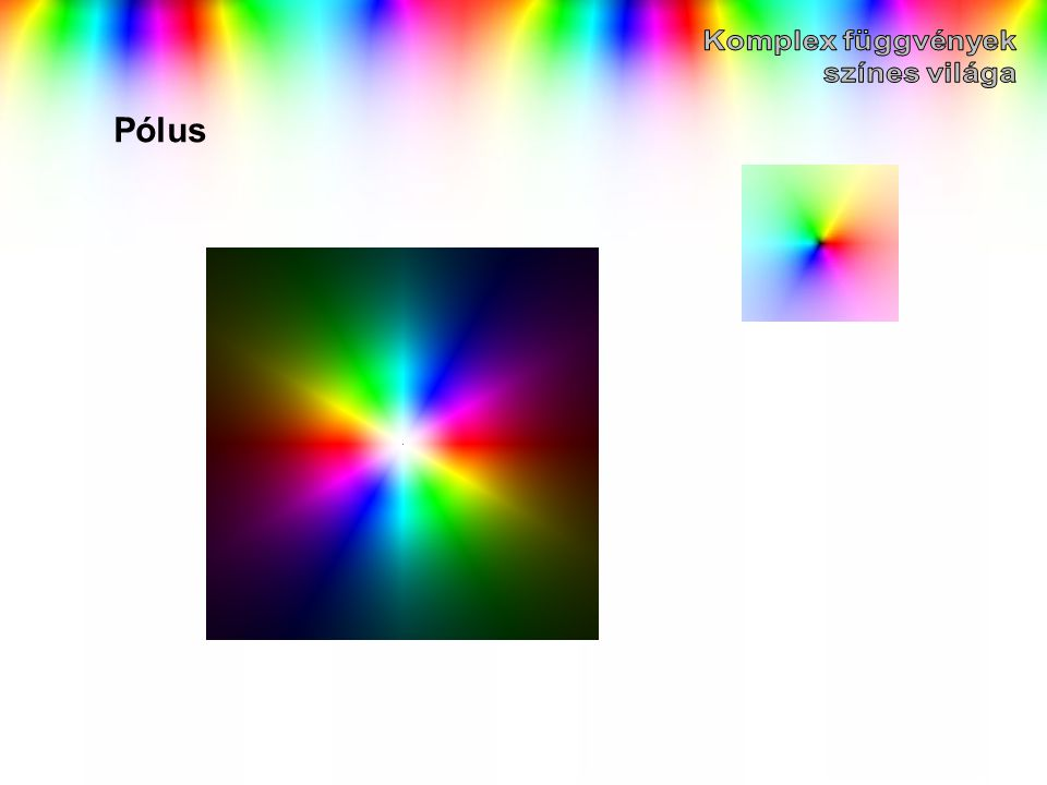 Komplex függvények színes világa Pólus
