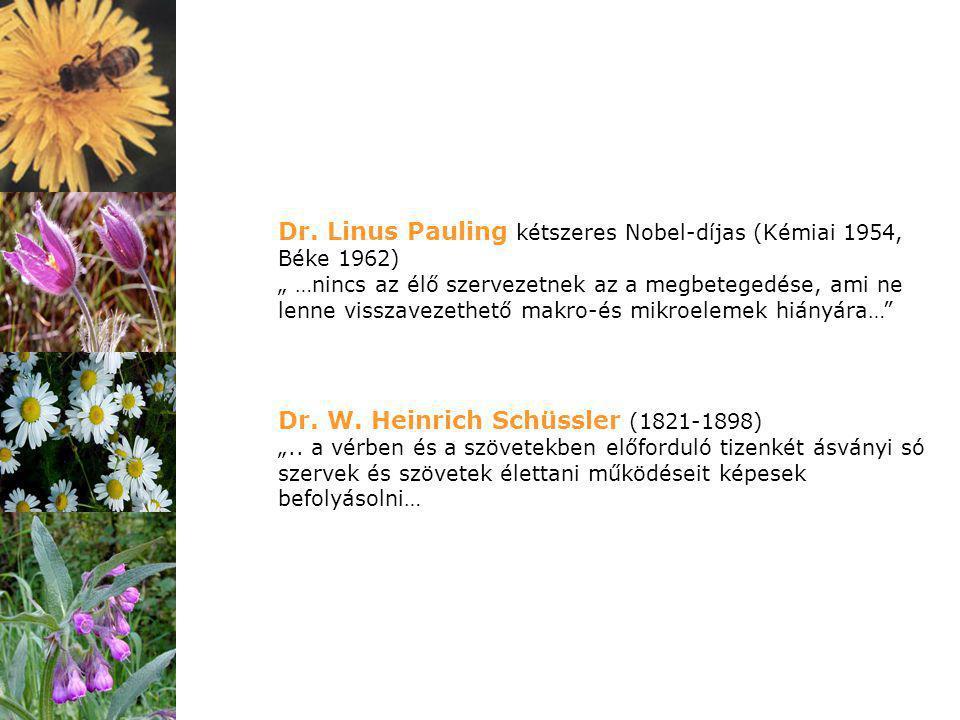Dr. Linus Pauling kétszeres Nobel-díjas (Kémiai 1954, Béke 1962)