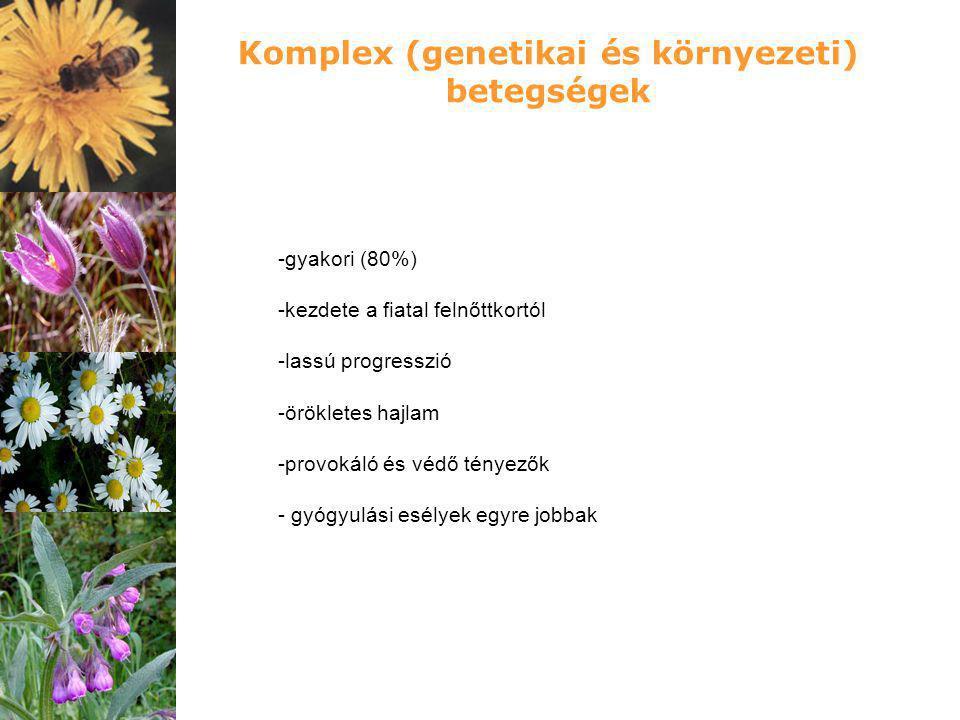 Komplex (genetikai és környezeti) betegségek