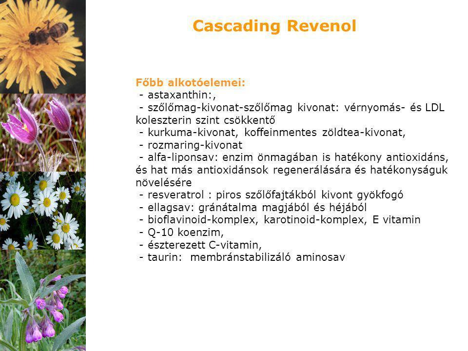 Cascading Revenol Főbb alkotóelemei: - astaxanthin:,