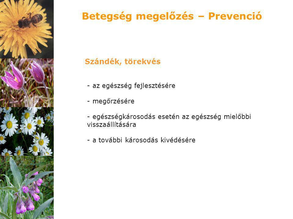 Betegség megelőzés – Prevenció