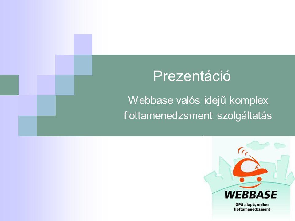 Webbase valós idejű komplex flottamenedzsment szolgáltatás