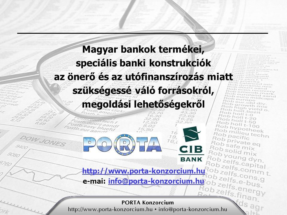 Magyar bankok termékei, speciális banki konstrukciók