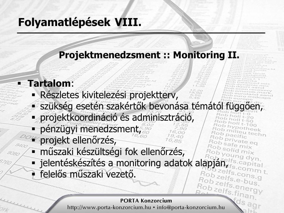 Projektmenedzsment :: Monitoring II.