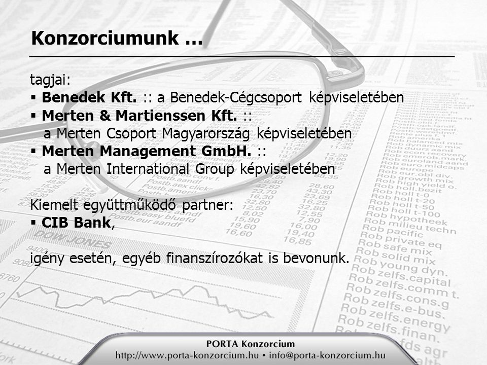 Konzorciumunk … tagjai: