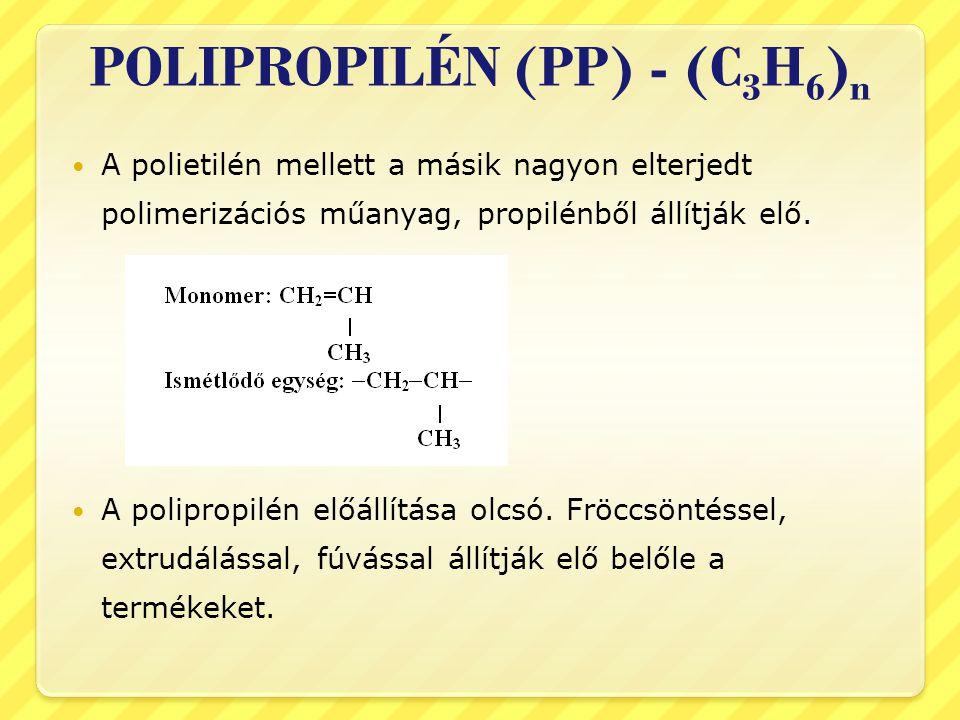 POLIPROPILÉN (PP) - (C3H6)n