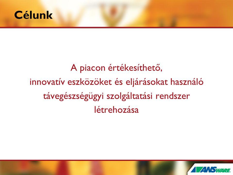 Célunk A piacon értékesíthető, innovatív eszközöket és eljárásokat használó távegészségügyi szolgáltatási rendszer létrehozása