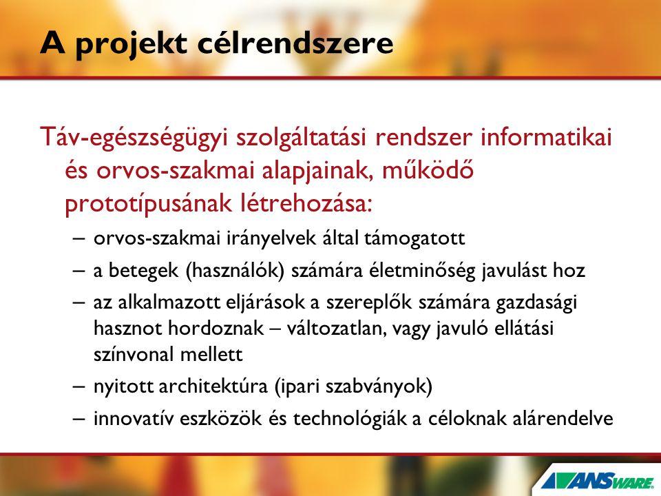 A projekt célrendszere