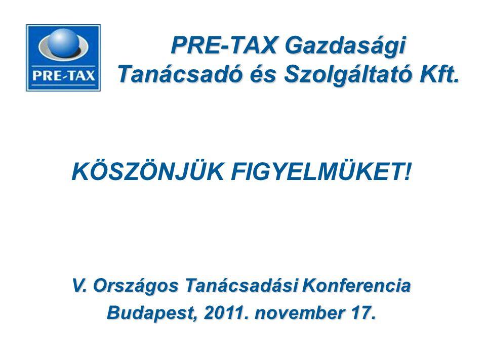 PRE-TAX Gazdasági Tanácsadó és Szolgáltató Kft.