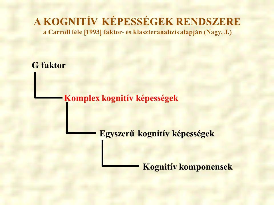 A KOGNITÍV KÉPESSÉGEK RENDSZERE