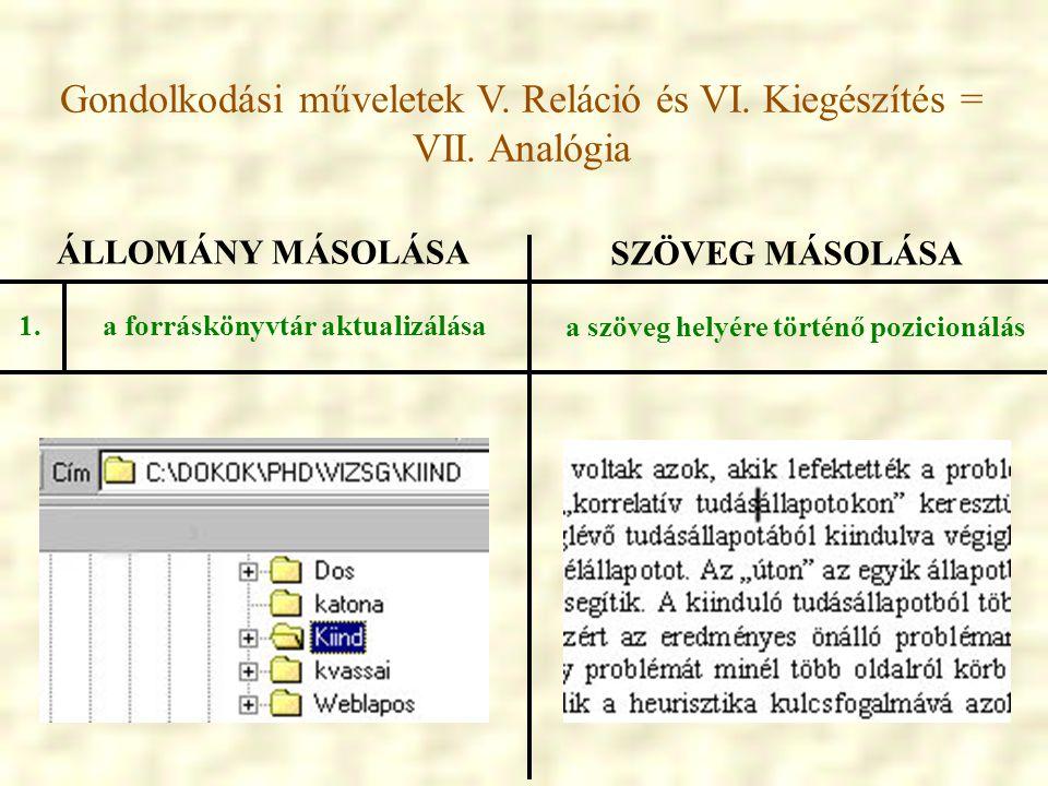 a forráskönyvtár aktualizálása a szöveg helyére történő pozicionálás