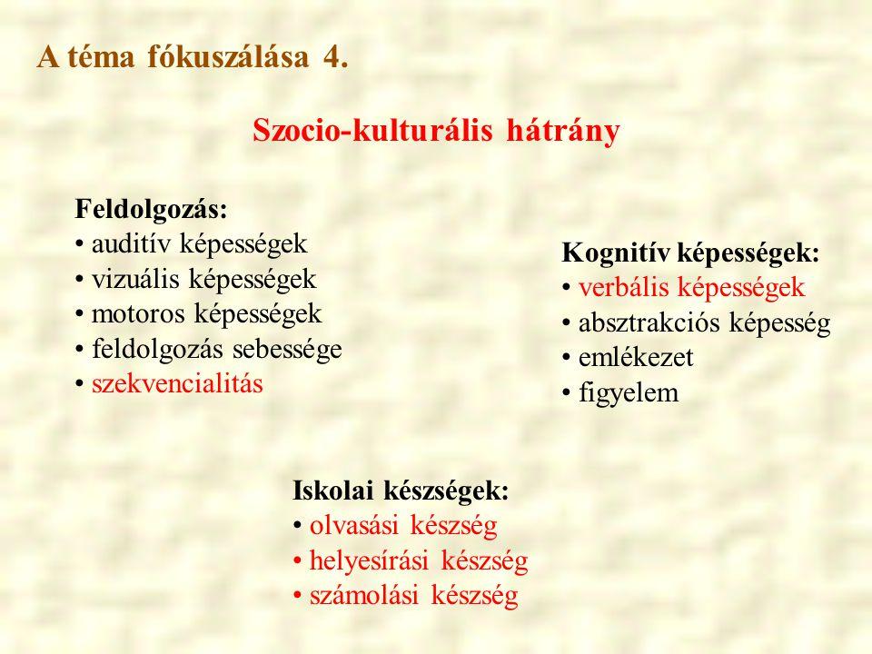 Szocio-kulturális hátrány