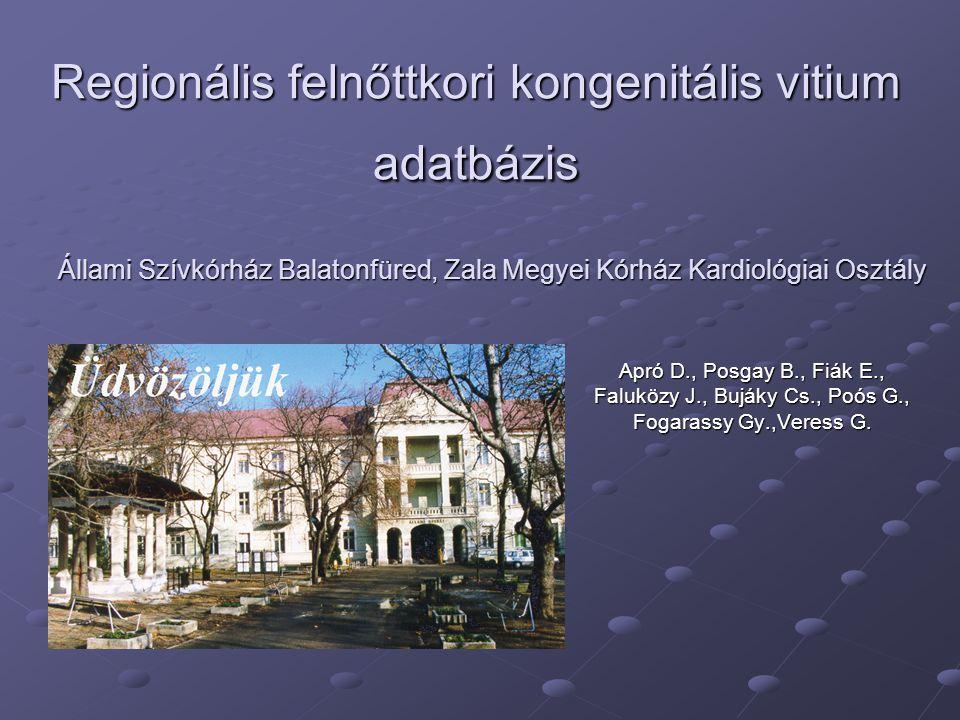 Regionális felnőttkori kongenitális vitium adatbázis