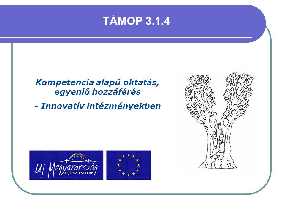 TÁMOP 3.1.4 Kompetencia alapú oktatás, egyenlő hozzáférés