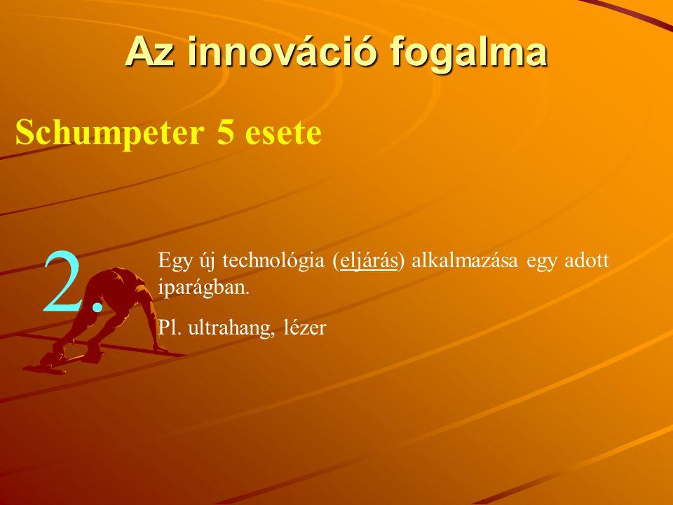 2. Az innováció fogalma Schumpeter 5 esete