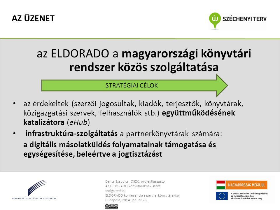 az ELDORADO a magyarországi könyvtári rendszer közös szolgáltatása