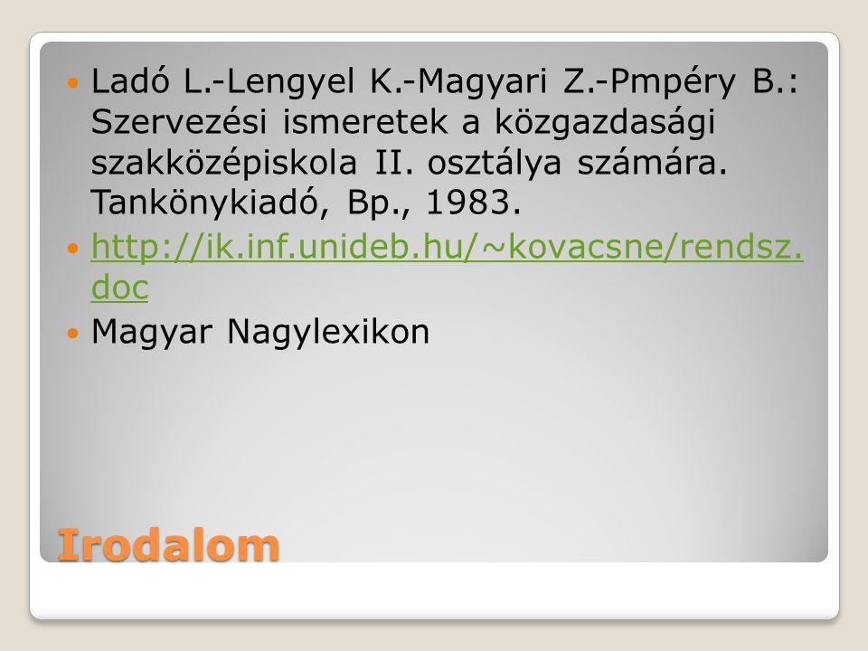 Ladó L. -Lengyel K. -Magyari Z. -Pmpéry B