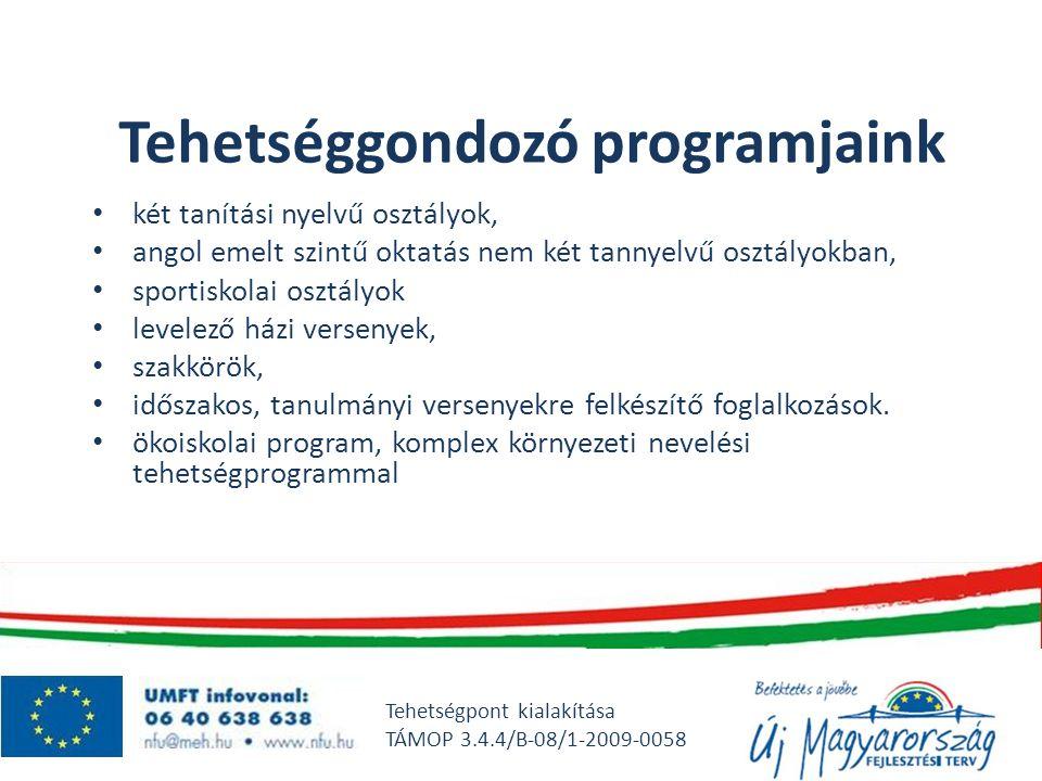Tehetséggondozó programjaink