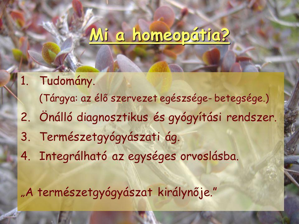 Mi a homeopátia 1. Tudomány.