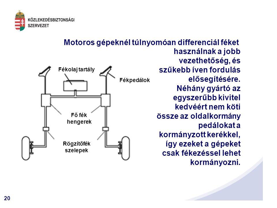 Motoros gépeknél túlnyomóan differenciál féket