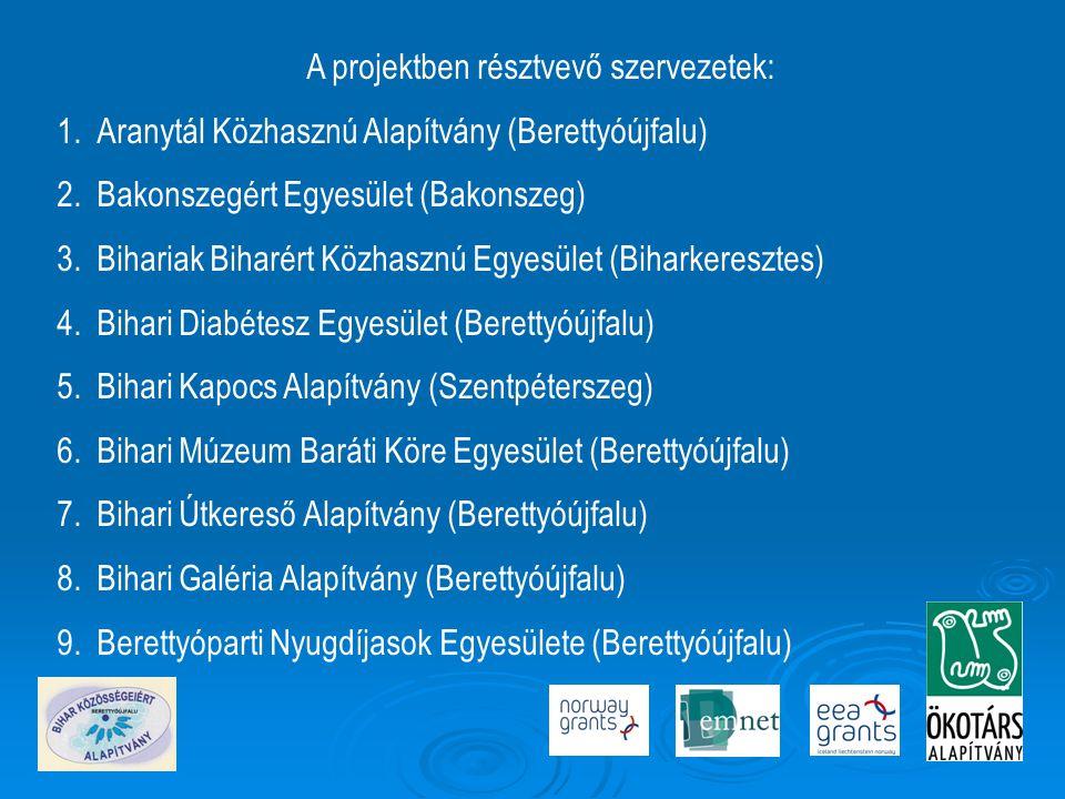 A projektben résztvevő szervezetek: