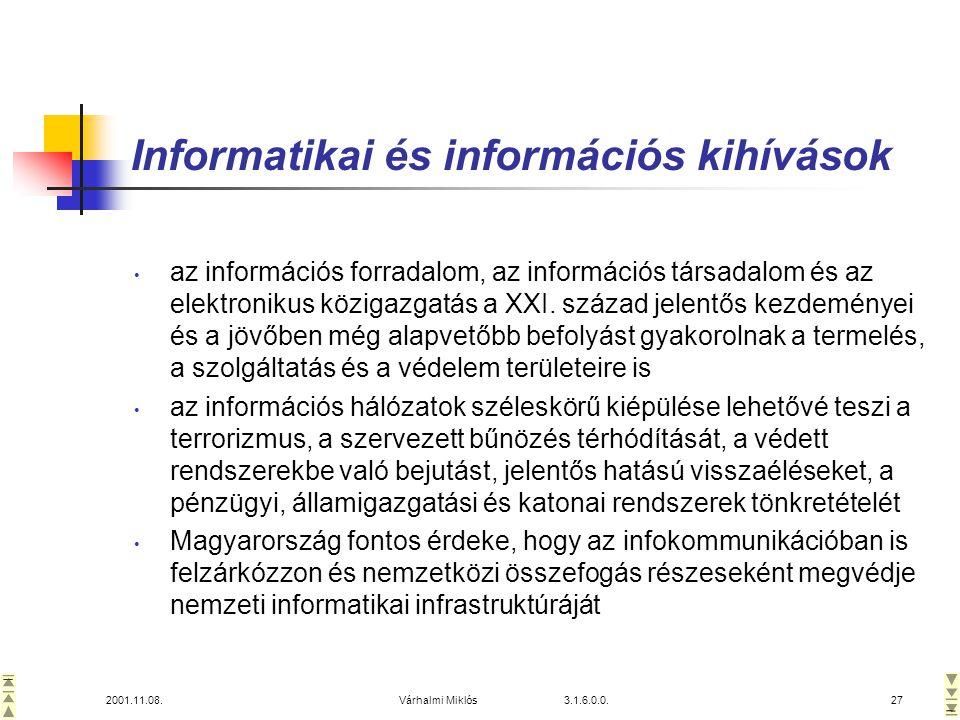 Informatikai és információs kihívások