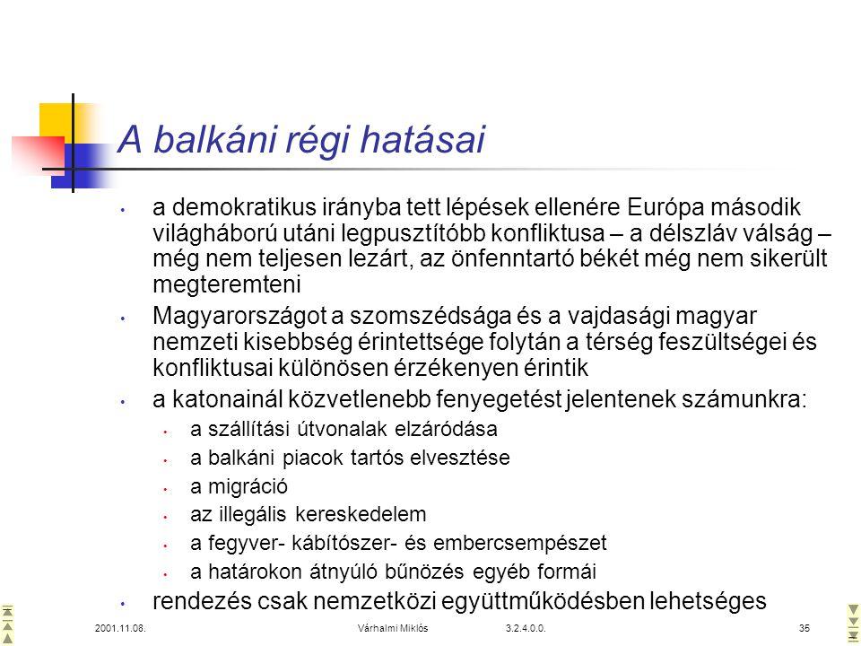 A balkáni régi hatásai