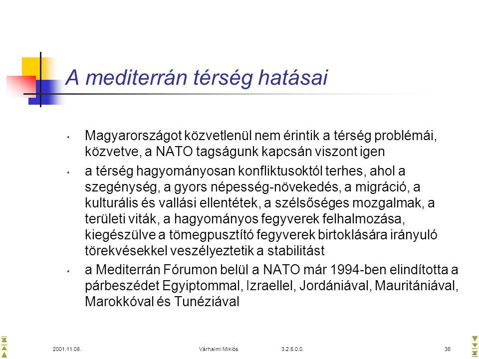 A mediterrán térség hatásai