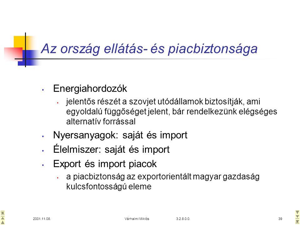 Az ország ellátás- és piacbiztonsága