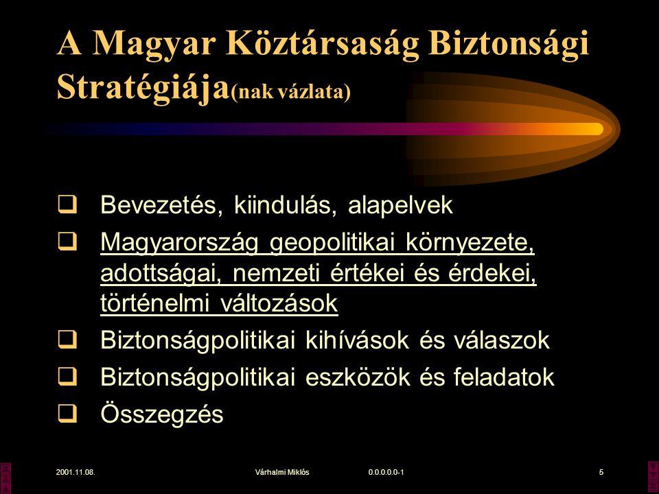 A Magyar Köztársaság Biztonsági Stratégiája(nak vázlata)