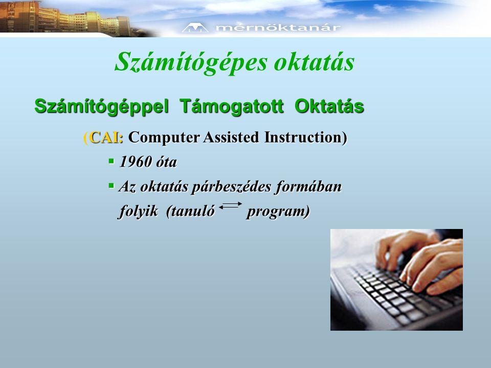 Számítógépes oktatás Számítógéppel Támogatott Oktatás