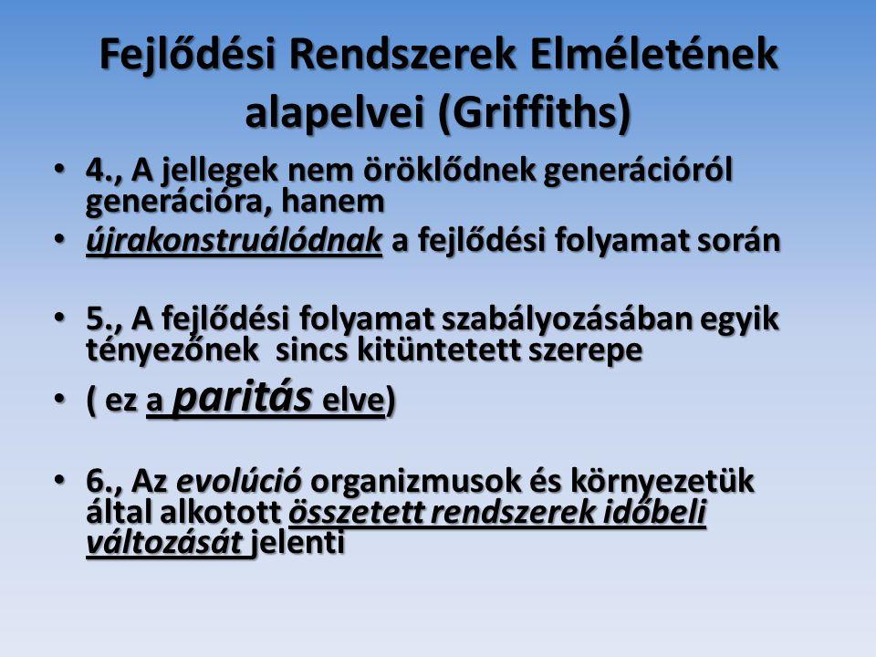 Fejlődési Rendszerek Elméletének alapelvei (Griffiths)