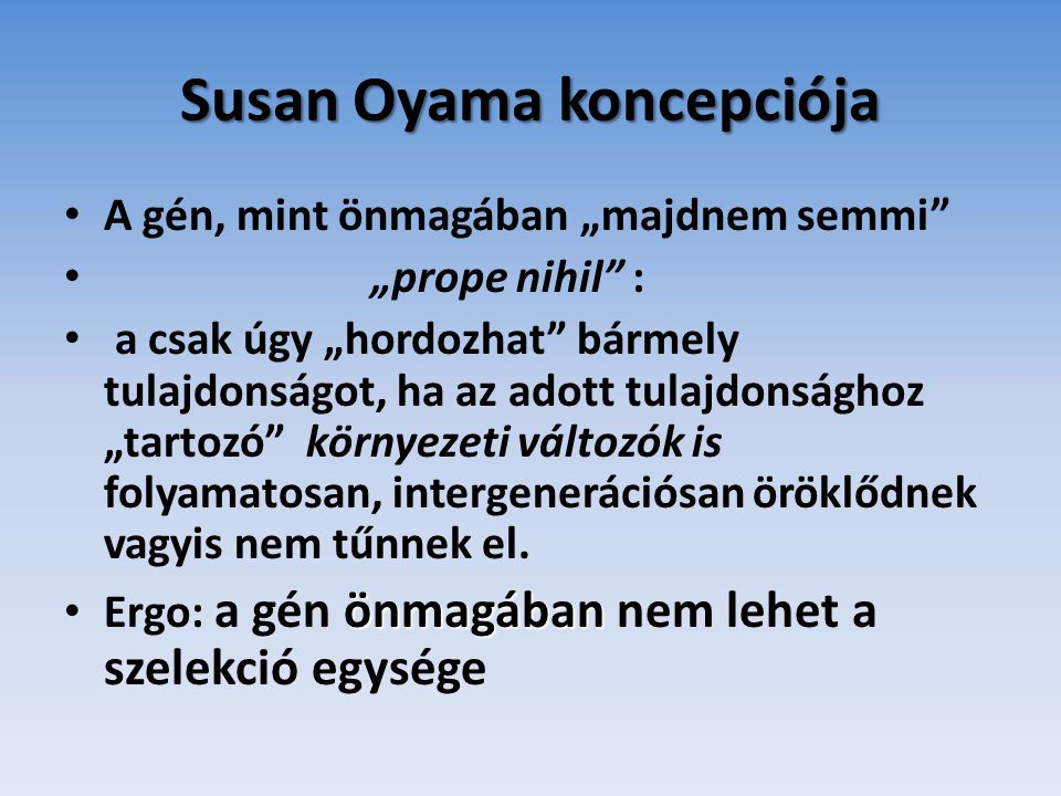 Susan Oyama koncepciója