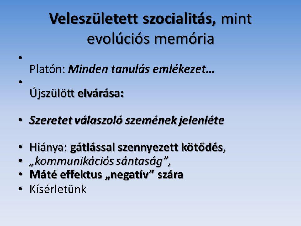 Veleszületett szocialitás, mint evolúciós memória