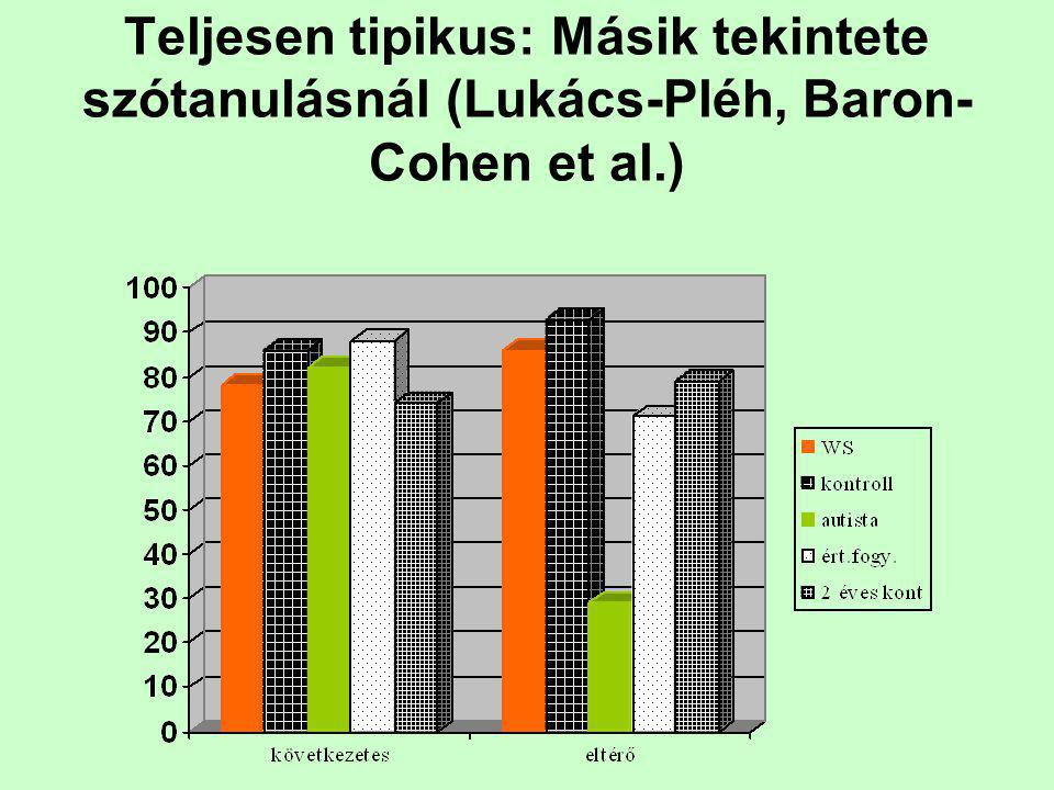 Teljesen tipikus: Másik tekintete szótanulásnál (Lukács-Pléh, Baron-Cohen et al.)