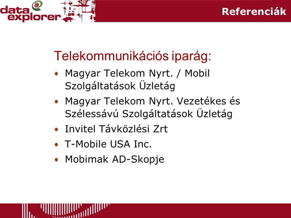 Telekommunikációs iparág: