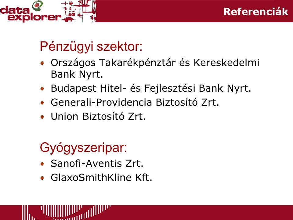 Pénzügyi szektor: Gyógyszeripar: Referenciák